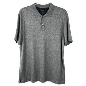 Men's Banana Republic Gray Luxury Touch Polo Shirt